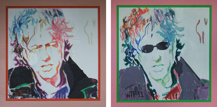 Two Studies for a portrait of Sir Bob Geldof (What the Fuck I and What the Fuck II)