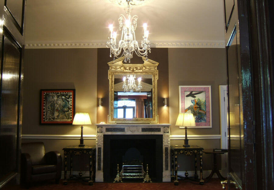 Paintings from Full Fathom Five on display at Hendon Hall in 2007-2008, former home of 18th Century actor David Garrick