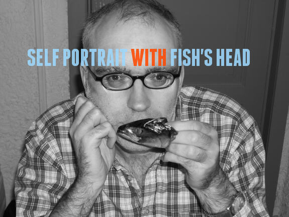 Self portrait with fish's head